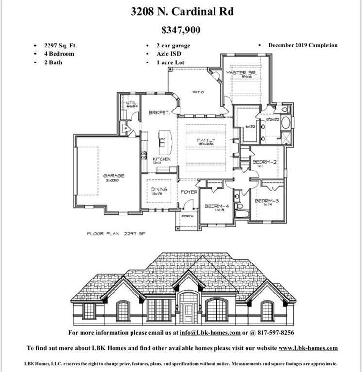 3208 North Cardinal Road, Azle, TX 76020