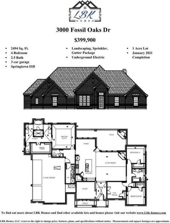 3000 Fossil Oaks Drive, Azle, TX 76020