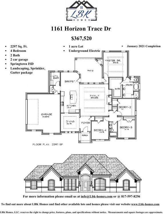 1161 Horizon Trace Drive, Azle, TX 76020