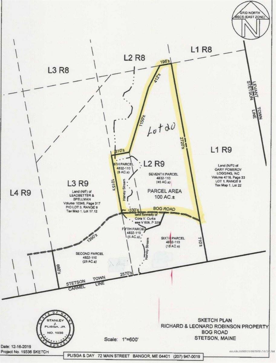 Map 1 Lot 20 Welches Lane, Stetson, ME 04488