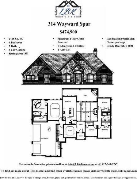 314 Wayward Spur, Springtown, TX 76082